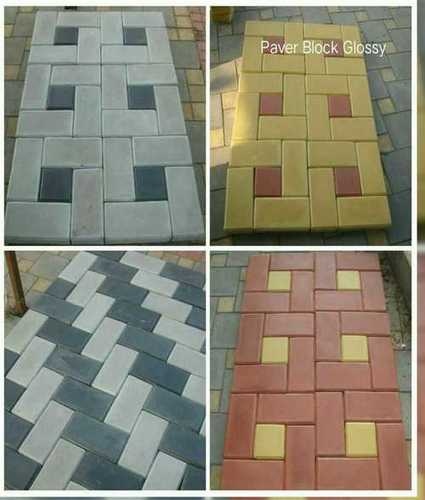 Red Matt Finish Paver Block