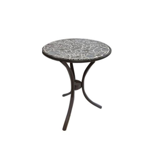 Multicolor Iron And Wooden Round Table