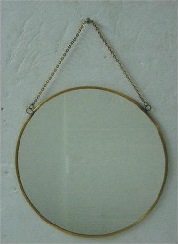 Brass And Glass Decorative Mirror
