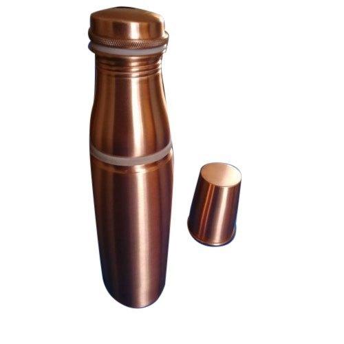 Brown Plain Copper Glass Bottle Set
