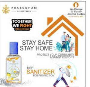 Stay Home And Safe Herbal Hand Sanitizer