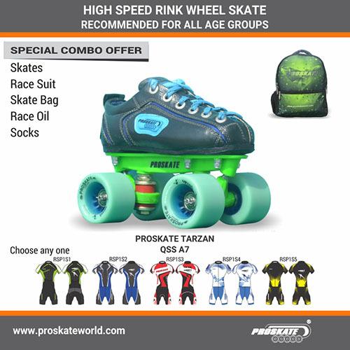 Proskate Tarzan Rink Wheel Skate Qss A7