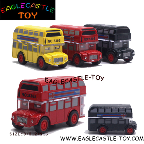 Children's Plastic Toy Double-Decker Bus (Ctx20355)