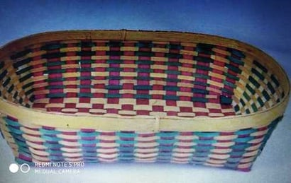 Durable Solid Square Bamboo Basket