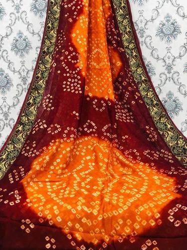 Attractive Pattern Bandhni Saree