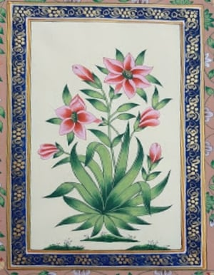 Mughal Flower Painting for Gift
