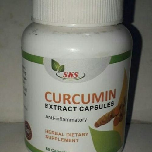 Herbal Curcumin Extract Capsules Age Group: For Adults