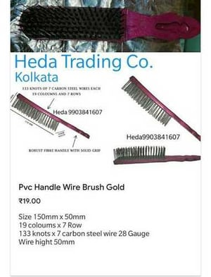 Plastic Wire Brush With Solid Grip