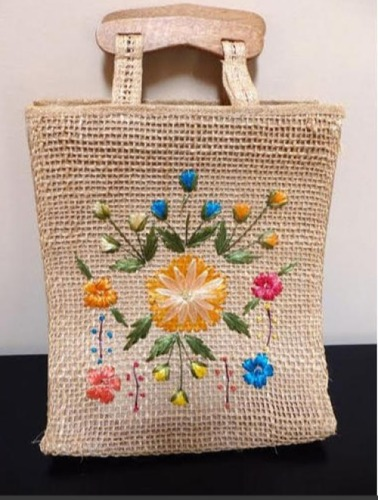 Eco Friendly Embroidered Jute Bags