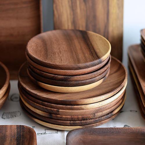 Round Sheesham Wood Plate
