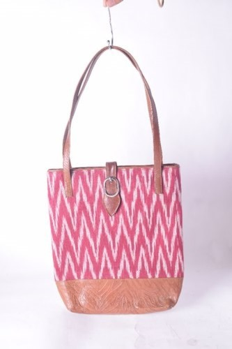 Multicolor Ikkat Fabric Bag