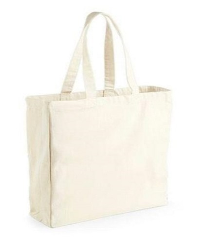 Plain Cotton Bag With Loop Handle