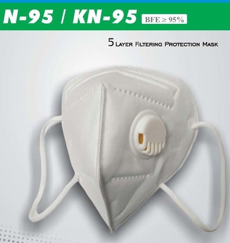 White Promaxx N95 Mask With 5 Layer Filtering