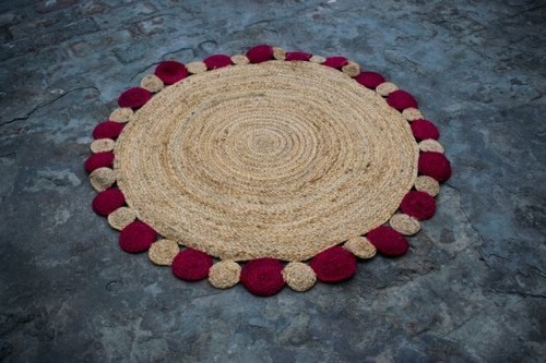 Round Jute Rug For Home