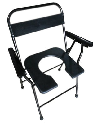 Fordable Plain Commode Chair