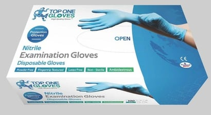 Blue Top One Nitrile Gloves