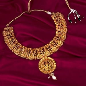 Gold Plated South Indian Necklace