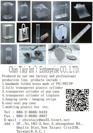 Light Weighted PVC/PET/PP Box