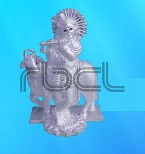 Durable 999 Silver Cow Krishna Statue