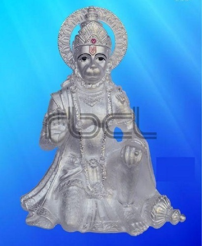 Durable 999 Silver Hanuman Statue