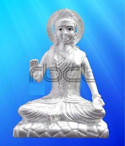 999 Silver Parvati Statue Easy To Clean