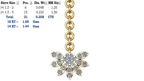 Designer Diamond Mang Tikka Certifications: Gia/Igi/Egl