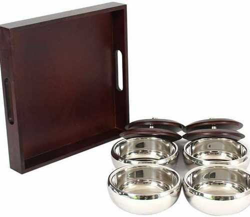 Silver Tone Rust Proof Stainless Steel Casserole