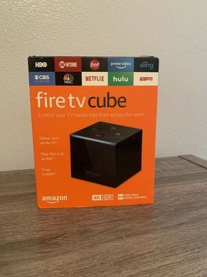 Hands-Free Fire TV Cube With Alexa And 4K Ultra HD Streaming Media Player