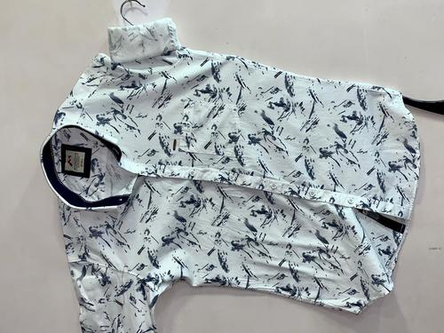 Mens White Printed Casual Shirt Age Group: 18-40 Yrs