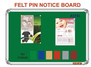 Fabric Pin Up Notice Board