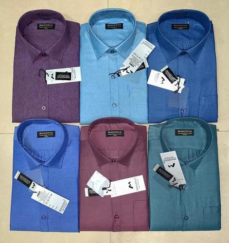 Full Sleeve Men Regular Fit Solid Formal Shirt Age Group: 18-40