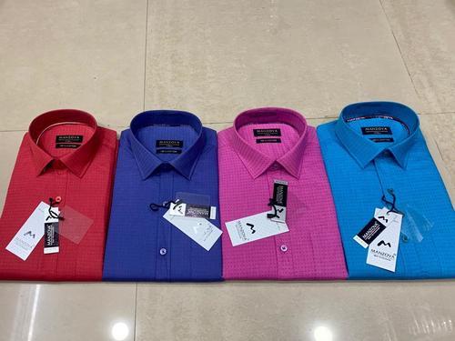 Men Polka Dots Print Formal Shirt Age Group: 18-40