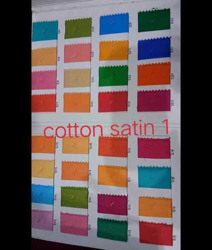Pure Cotton Satin Fabric
