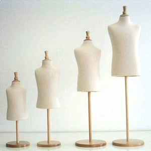 Male Bust Mannequin With Stand