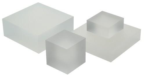 Abrasion Resistance White Acrylic Blocks