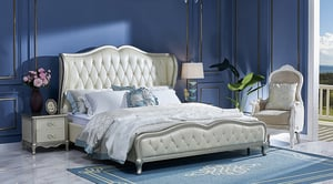 Home White Double Bed