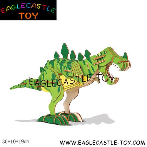 3d Wooden Dinosaur Puzzle (Cxt20428)