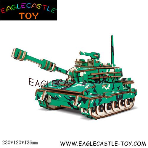 3d Wooden Tank Puzzle (Cxt20419)