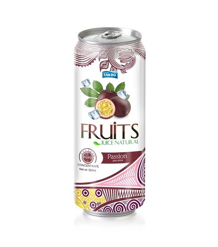 Beverage 330Ml Canned Passion Fruit Juice