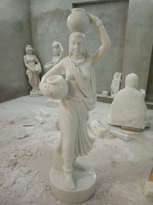 Attractive Lady Marble Statue