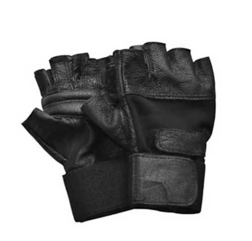 Black Half Finger Gym Gloves