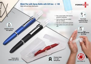 Metal Pen with Spray Bottle with Gift box