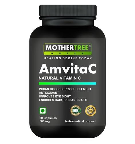 Amvitac Natural Vitamin C Indian Gooseberry Capsules