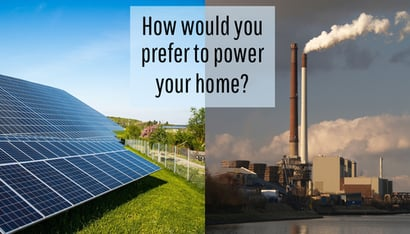 Blue Residential Grid Tied Solar Rooftop Power Plant