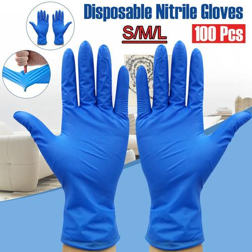 Blue Surgical Hand Nitrile Gloves