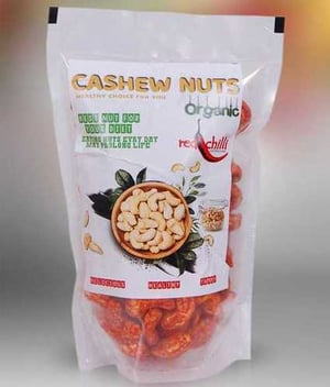 Packed Organic Cashew Nuts