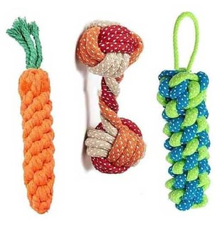 Cotton And PP Pet Braided Toys