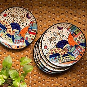 Hand Painted Colorful Design Tableware Set