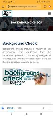 Background Verification Services Certifications: Iso9001 : 2015