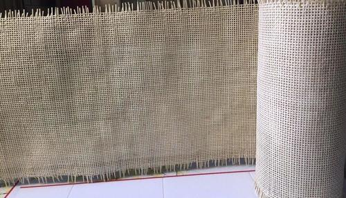Bleached Square Rattan Cane Webbing